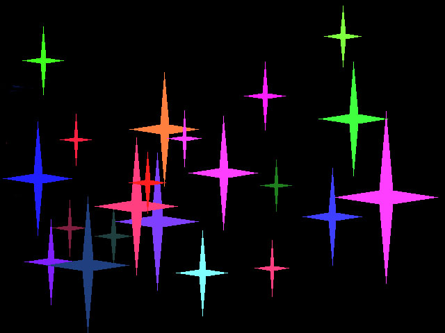 Colored Night Stars